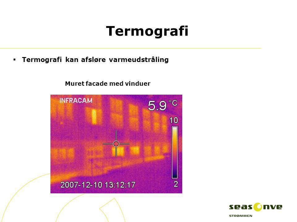 Termografi Termografi kan afsløre varmeudstråling