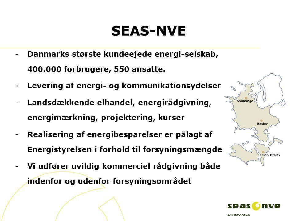 SEAS-NVE Danmarks største kundeejede energi-selskab, 400.000 forbrugere, 550 ansatte. Levering af energi- og kommunikationsydelser.
