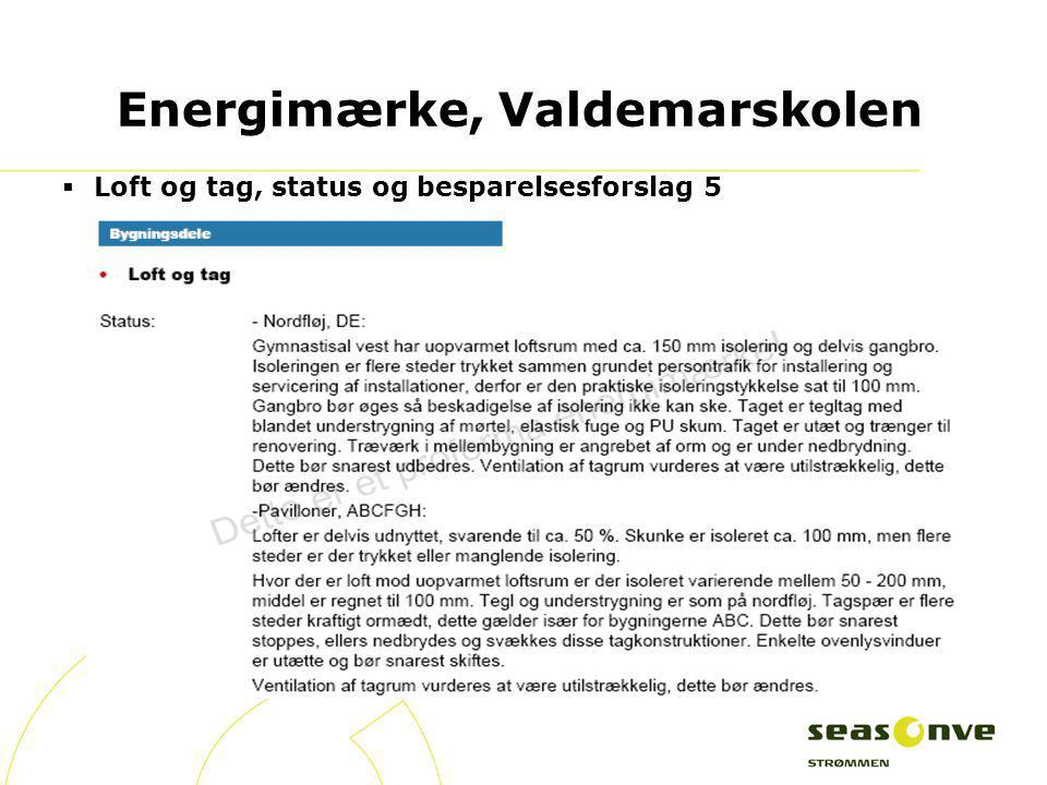 Energimærke, Valdemarskolen