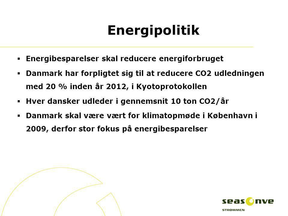 Energipolitik Energibesparelser skal reducere energiforbruget