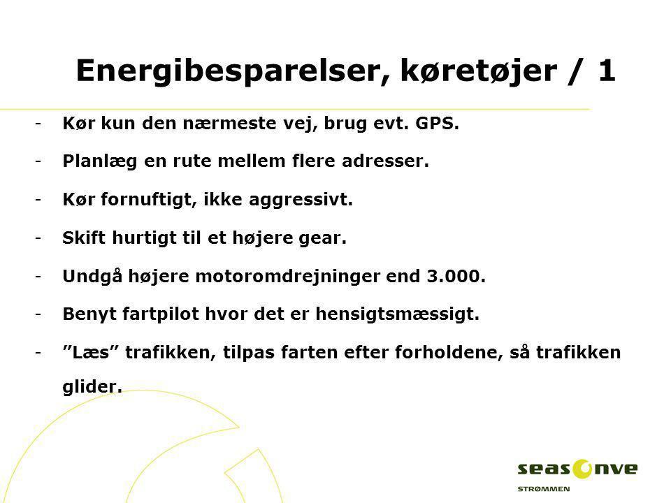 Energibesparelser, køretøjer / 1
