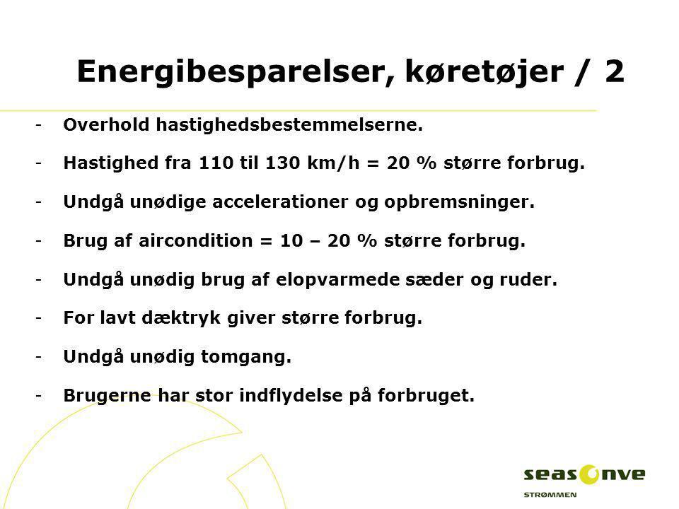 Energibesparelser, køretøjer / 2
