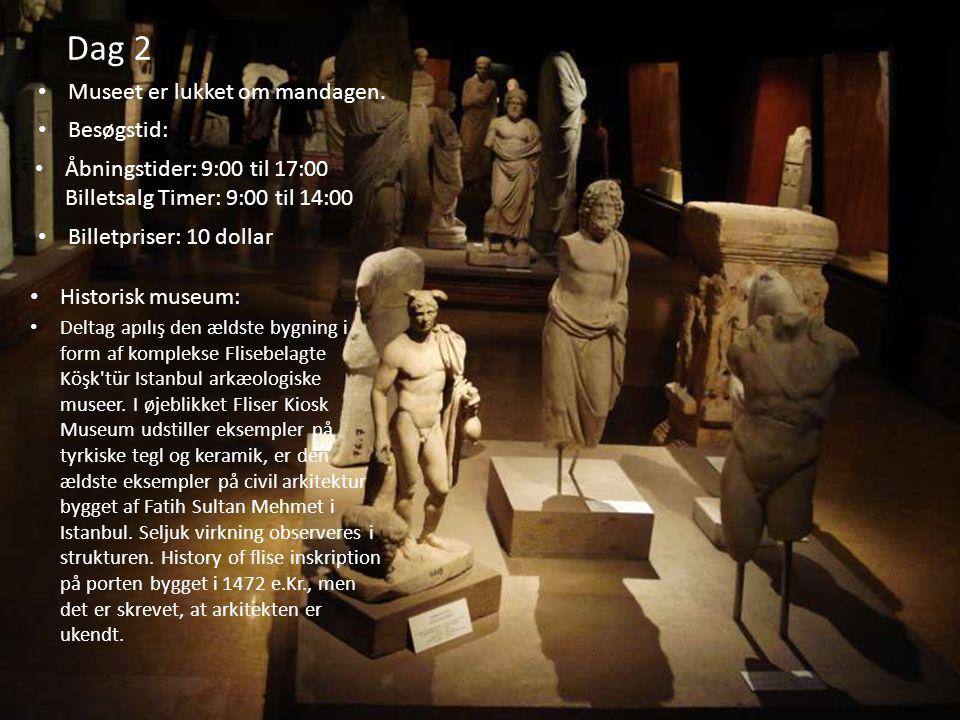 Dag 2 Museet er lukket om mandagen. Besøgstid: