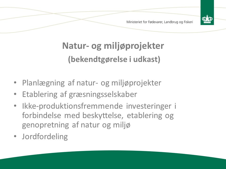 Natur- og miljøprojekter