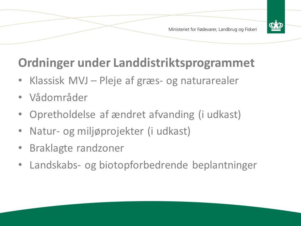 Ordninger under Landdistriktsprogrammet