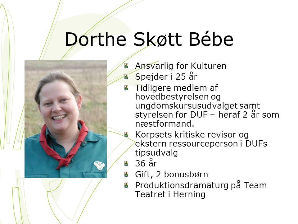 Dorthe Skøtt Bébe Ansvarlig for Kulturen Spejder i 25 år