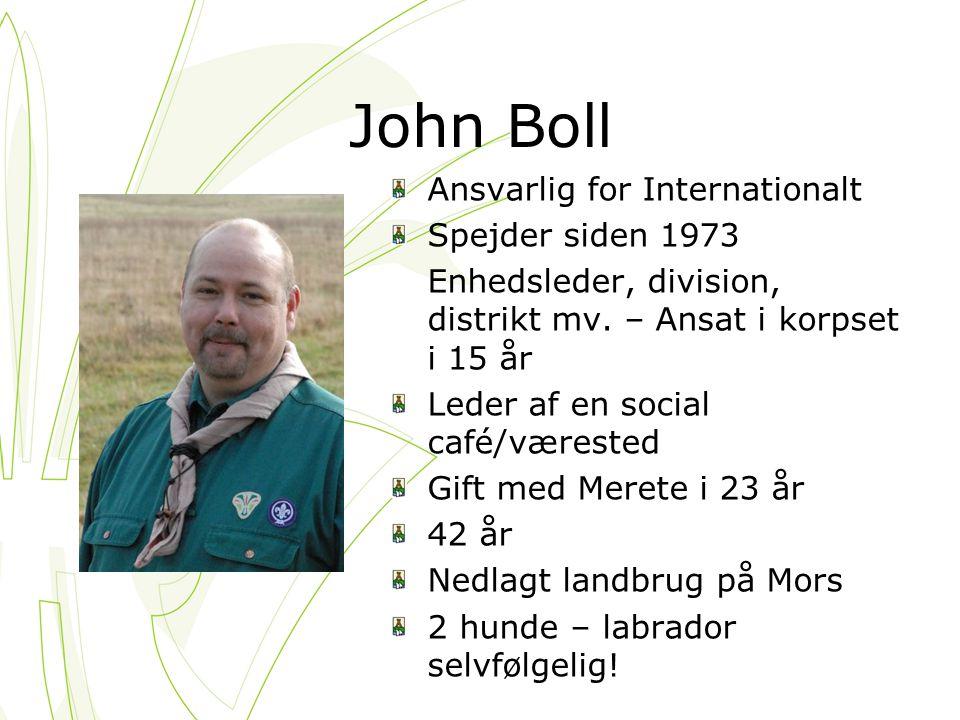 John Boll Ansvarlig for Internationalt Spejder siden 1973