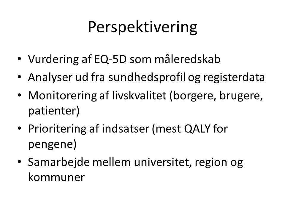 Perspektivering Vurdering af EQ-5D som måleredskab