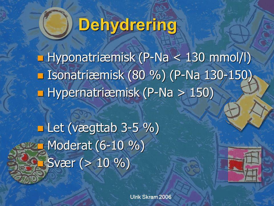 Dehydrering Hyponatriæmisk (P-Na < 130 mmol/l)