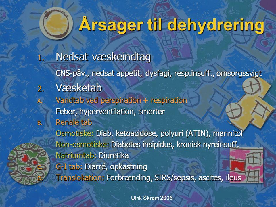 Årsager til dehydrering