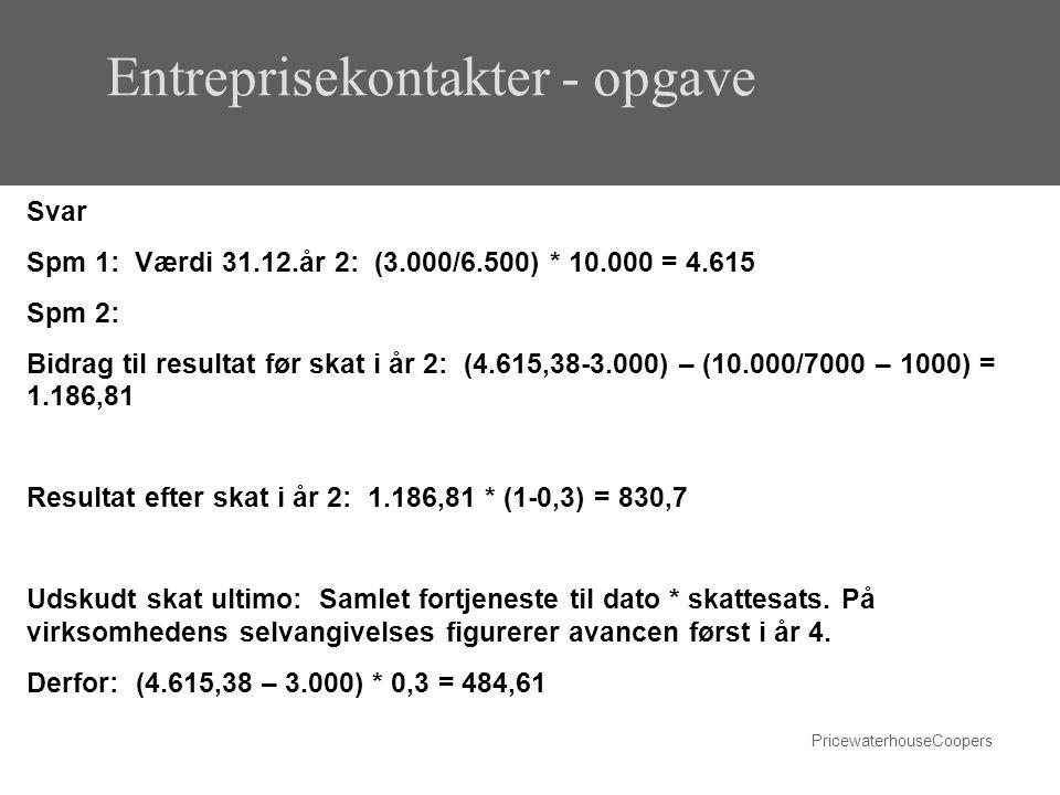 Entreprisekontakter - opgave