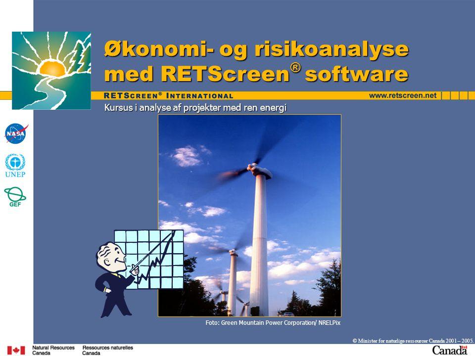Kursus i analyse af projekter med ren energi