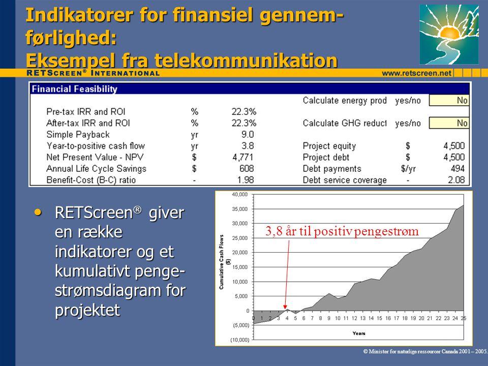 Indikatorer for finansiel gennem-førlighed: Eksempel fra telekommunikation