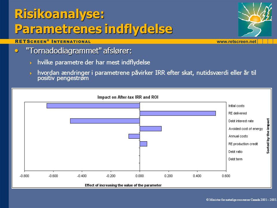 Risikoanalyse: Parametrenes indflydelse