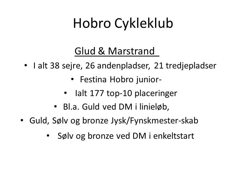 Hobro Cykleklub Glud & Marstrand