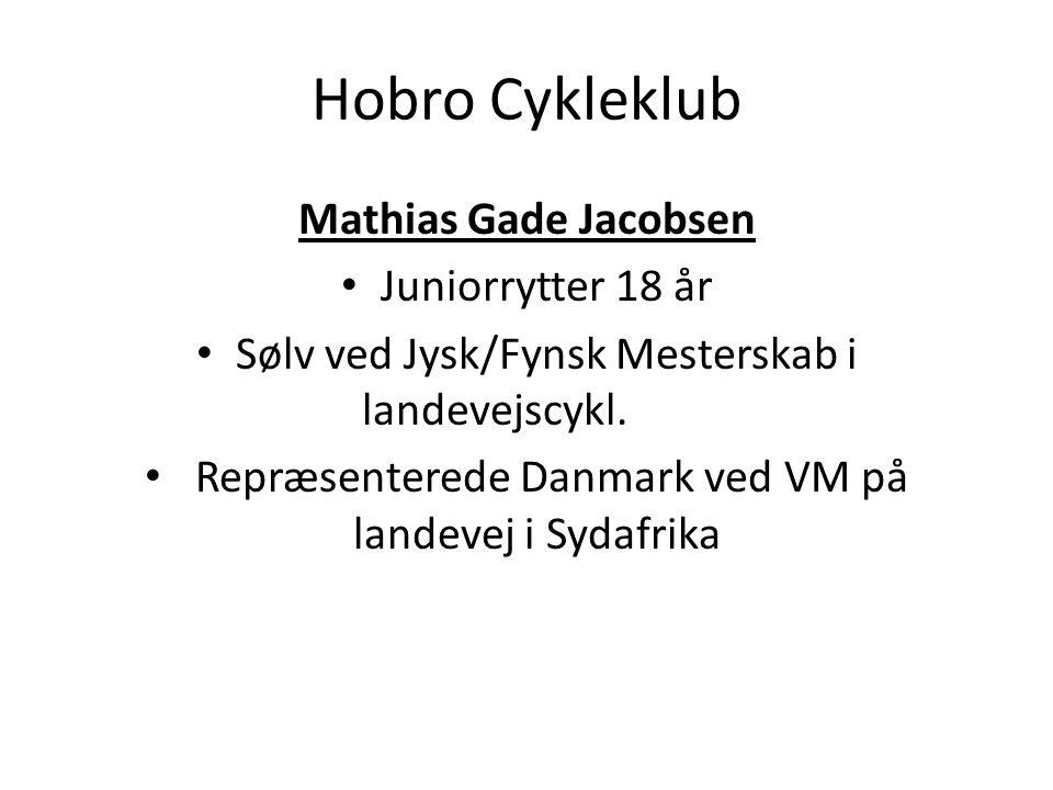 Hobro Cykleklub Mathias Gade Jacobsen Juniorrytter 18 år