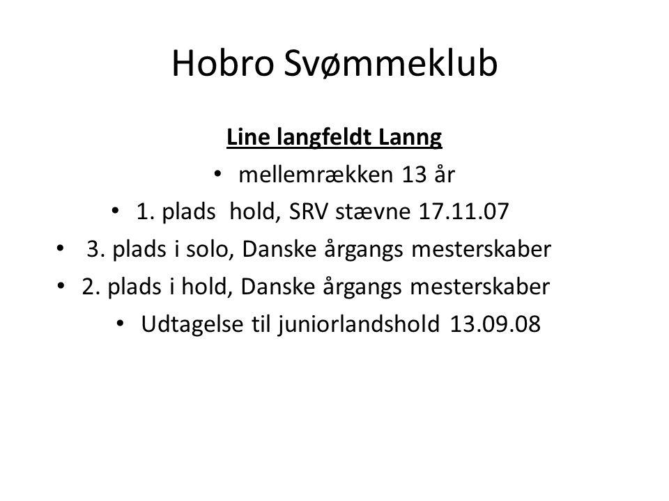 Hobro Svømmeklub Line langfeldt Lanng mellemrækken 13 år