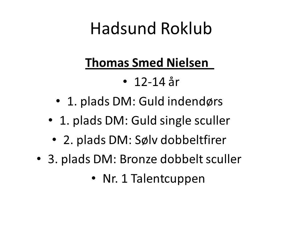 Hadsund Roklub Thomas Smed Nielsen 12-14 år