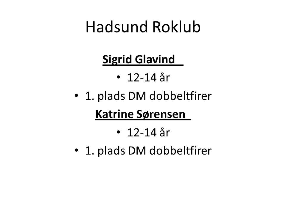 Hadsund Roklub Sigrid Glavind 12-14 år 1. plads DM dobbeltfirer