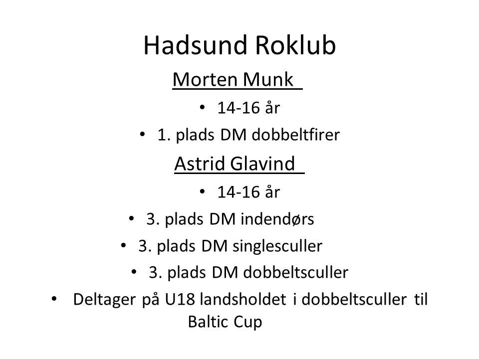Hadsund Roklub Morten Munk Astrid Glavind 14-16 år