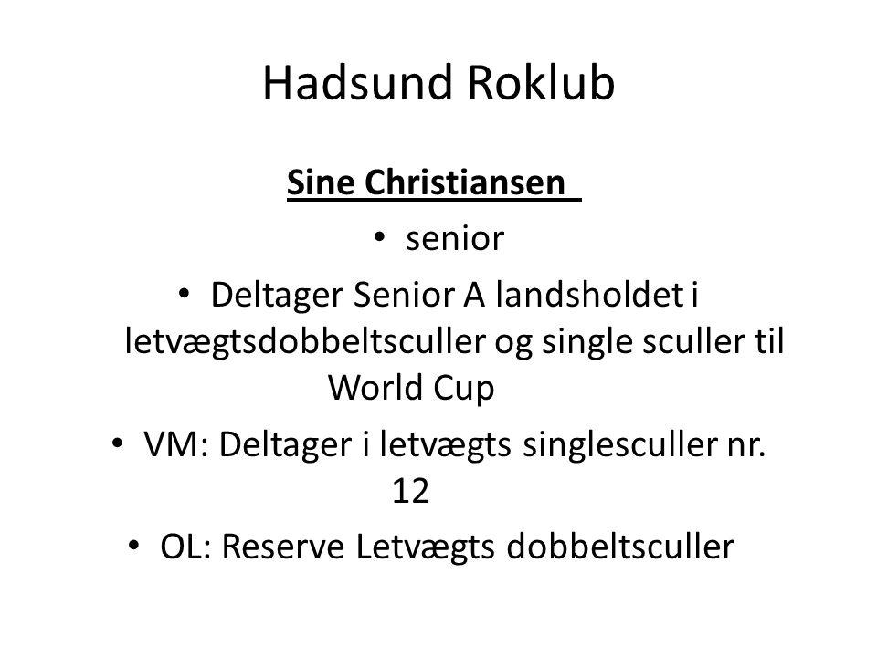 Hadsund Roklub Sine Christiansen senior