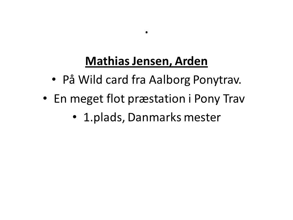 . Mathias Jensen, Arden På Wild card fra Aalborg Ponytrav.