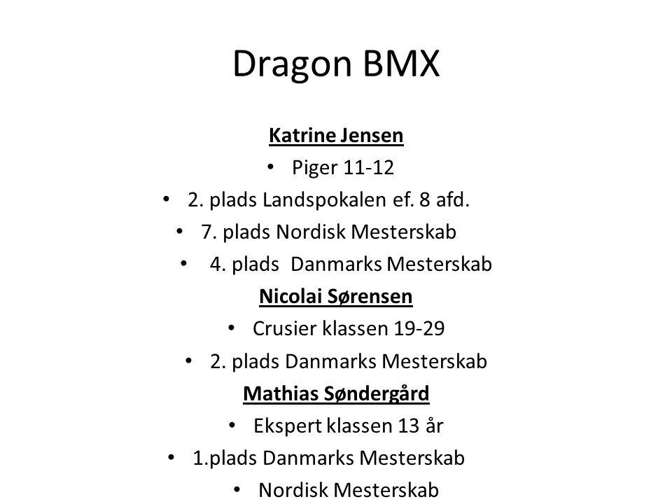 Dragon BMX Katrine Jensen Piger 11-12 2. plads Landspokalen ef. 8 afd.
