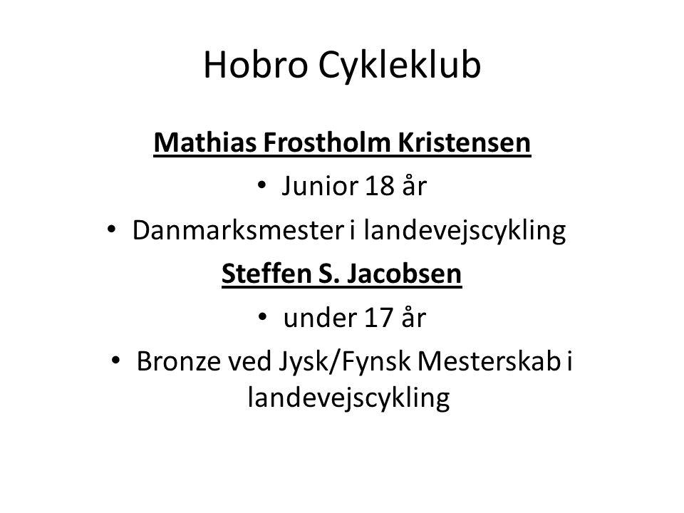 Hobro Cykleklub Mathias Frostholm Kristensen Junior 18 år