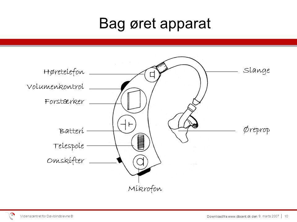 Bag øret apparat Høretelefon Slange Volumenkontrol Forstærker Batteri