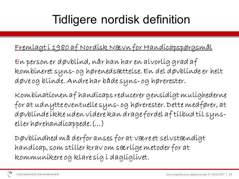 Tidligere nordisk definition