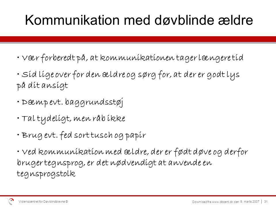 Kommunikation med døvblinde ældre