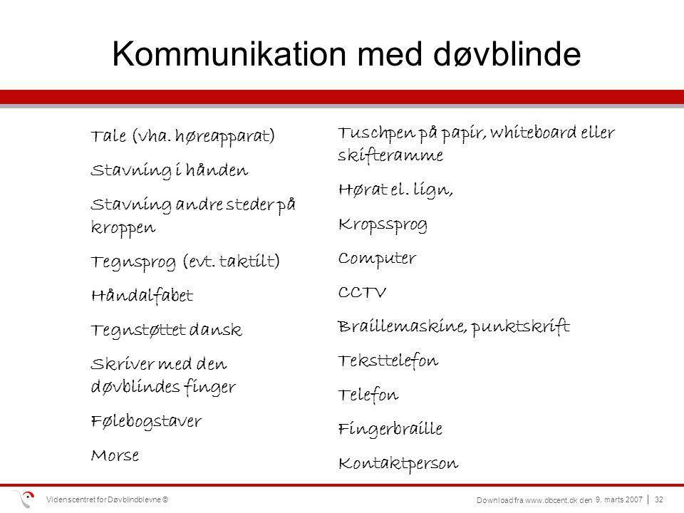 Kommunikation med døvblinde