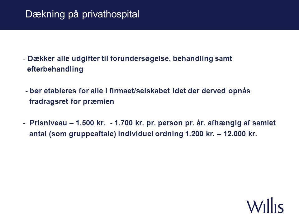 Dækning på privathospital