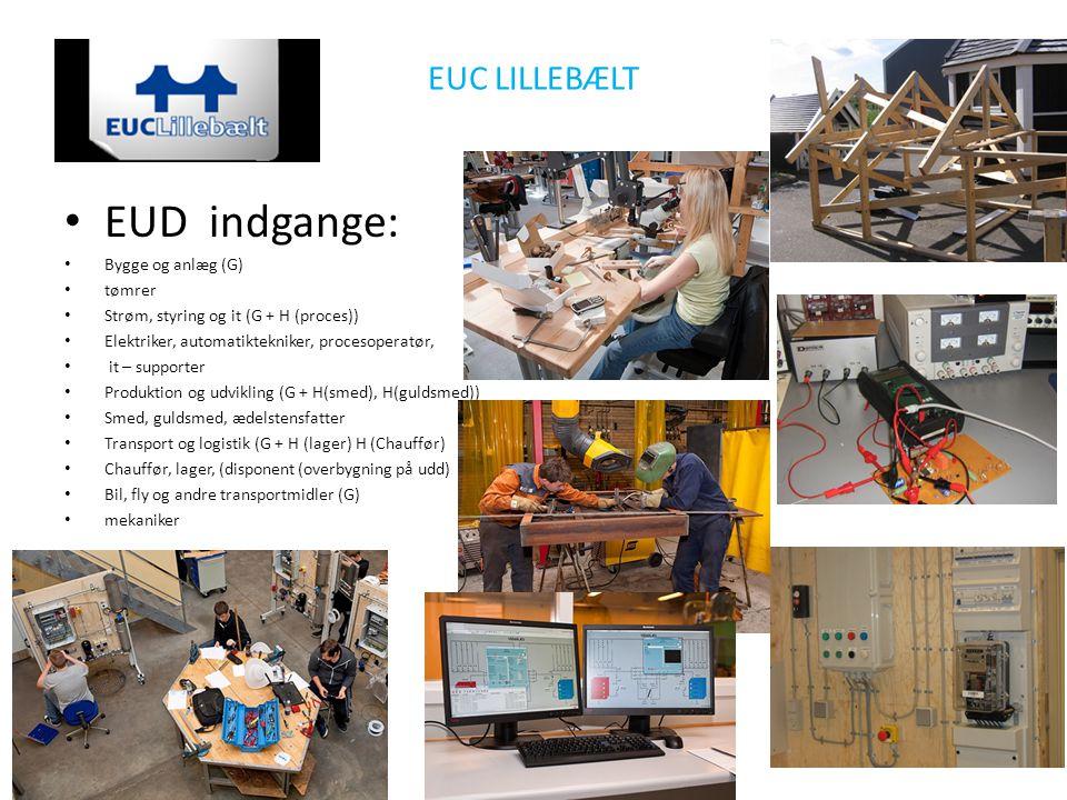 EUD indgange: EUC LILLEBÆLT Bygge og anlæg (G) tømrer