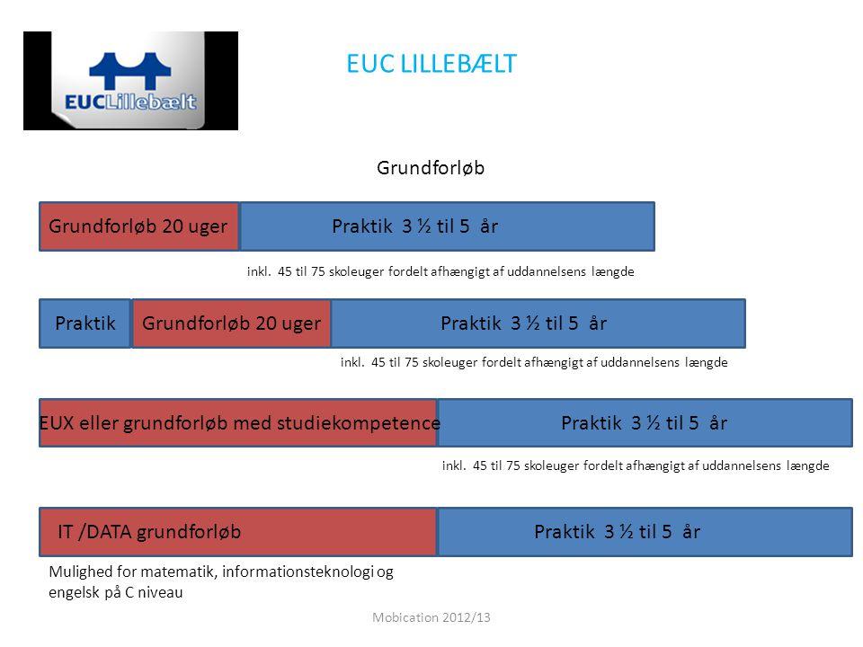 EUC LILLEBÆLT Grundforløb Grundforløb 20 uger Praktik 3 ½ til 5 år