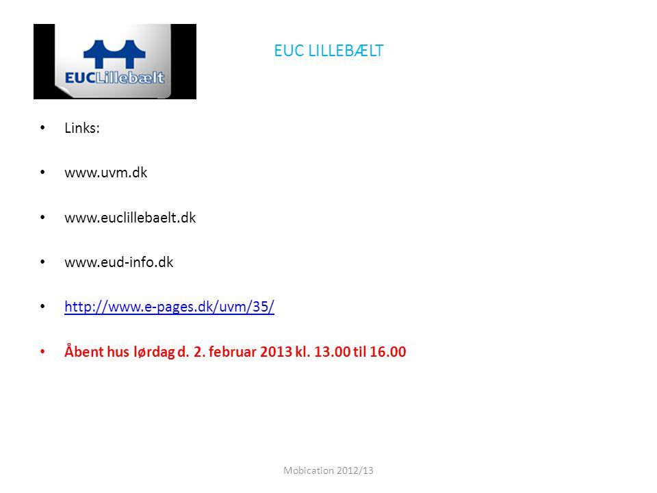 EUC LILLEBÆLT Links: www.uvm.dk www.euclillebaelt.dk www.eud-info.dk