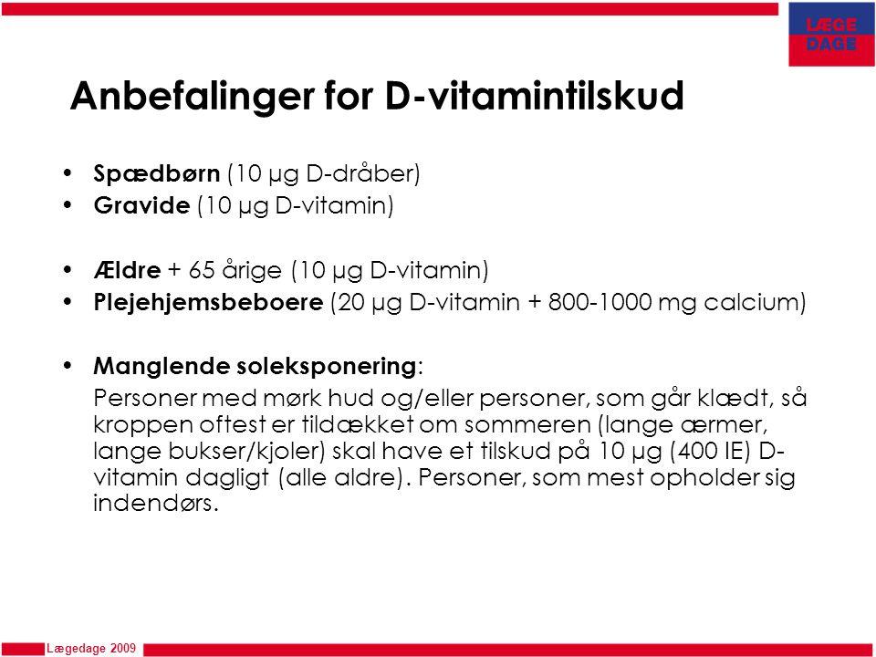 Anbefalinger for D-vitamintilskud