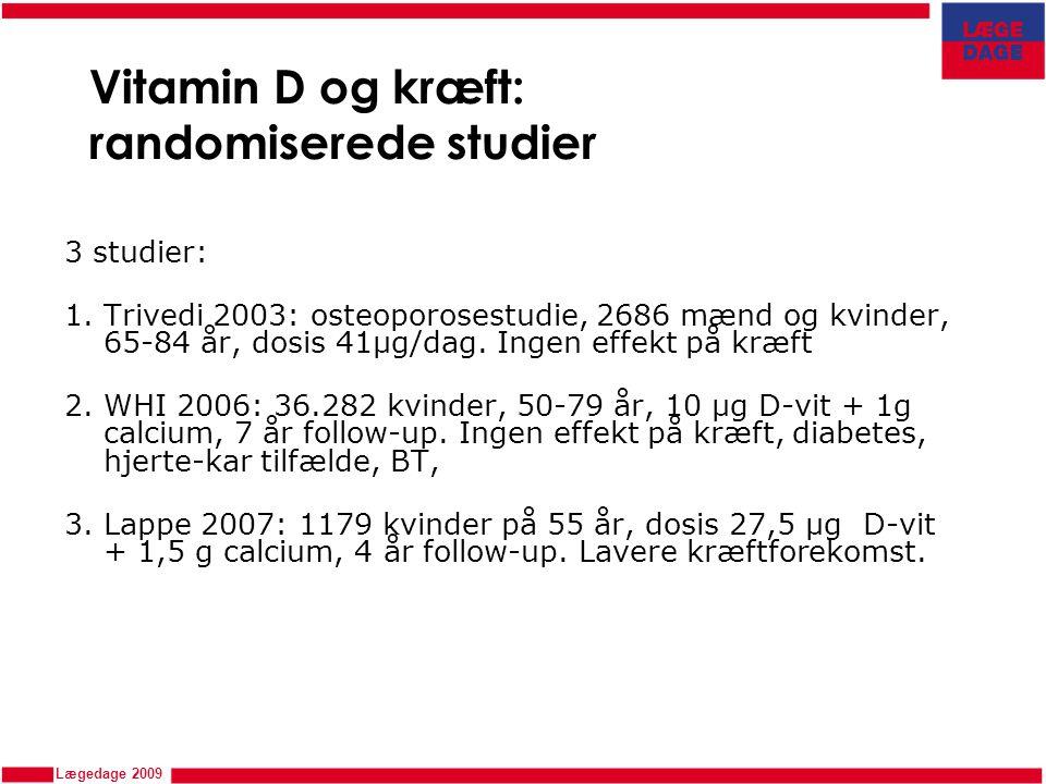 Vitamin D og kræft: randomiserede studier