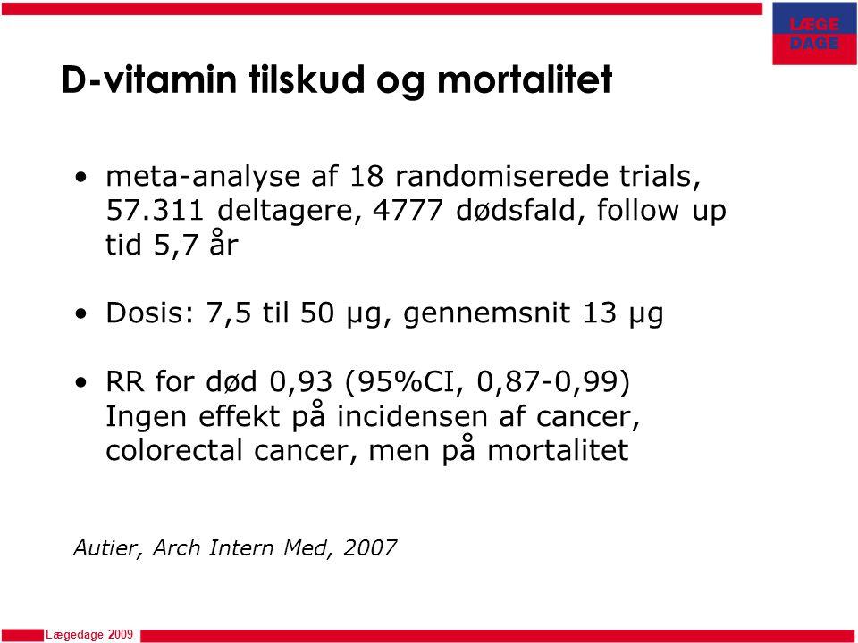 D-vitamin tilskud og mortalitet