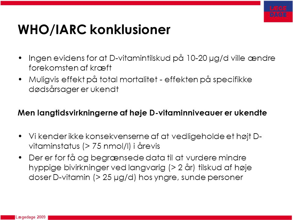 WHO/IARC konklusioner