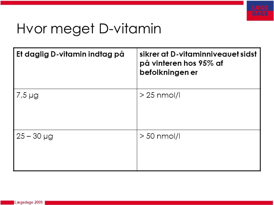 Hvor meget D-vitamin Et daglig D-vitamin indtag på