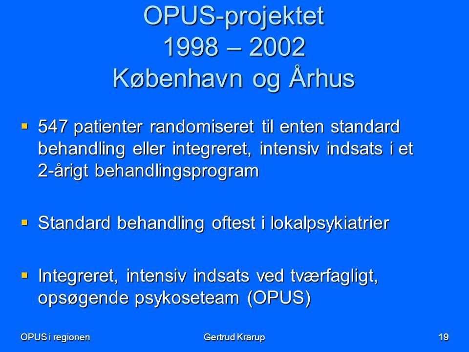 OPUS-projektet 1998 – 2002 København og Århus