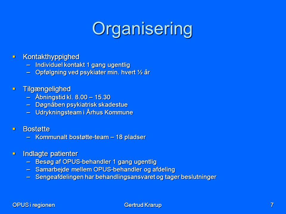 Organisering Kontakthyppighed Tilgængelighed Bostøtte