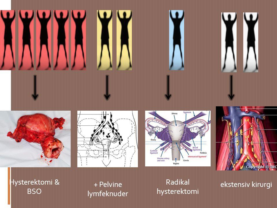Hysterektomi & BSO Radikal hysterektomi + Pelvine lymfeknuder
