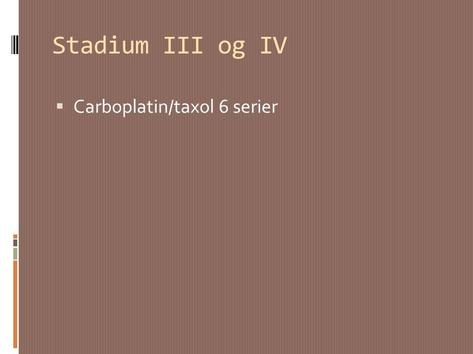 Stadium III og IV Carboplatin/taxol 6 serier
