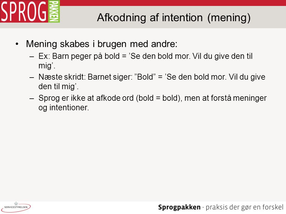 Afkodning af intention (mening)