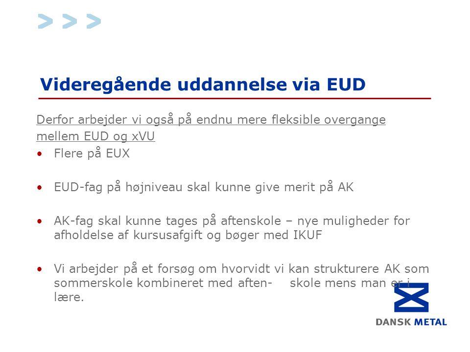 Videregående uddannelse via EUD