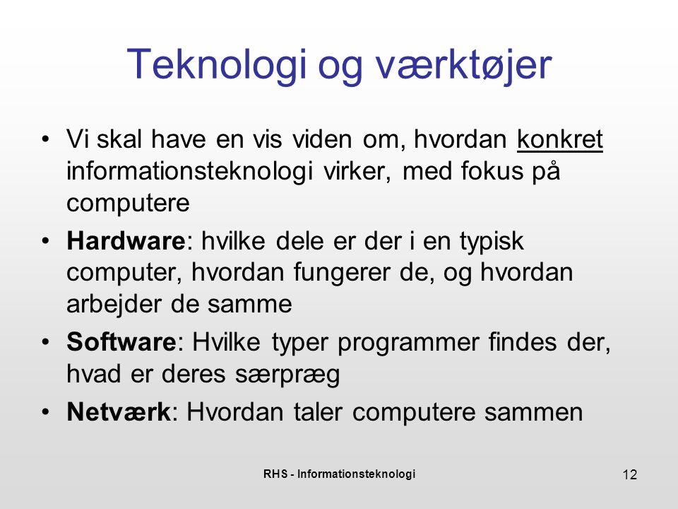 Teknologi og værktøjer