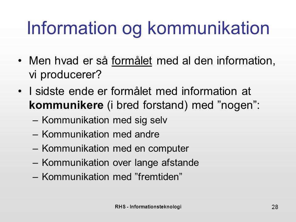 Information og kommunikation