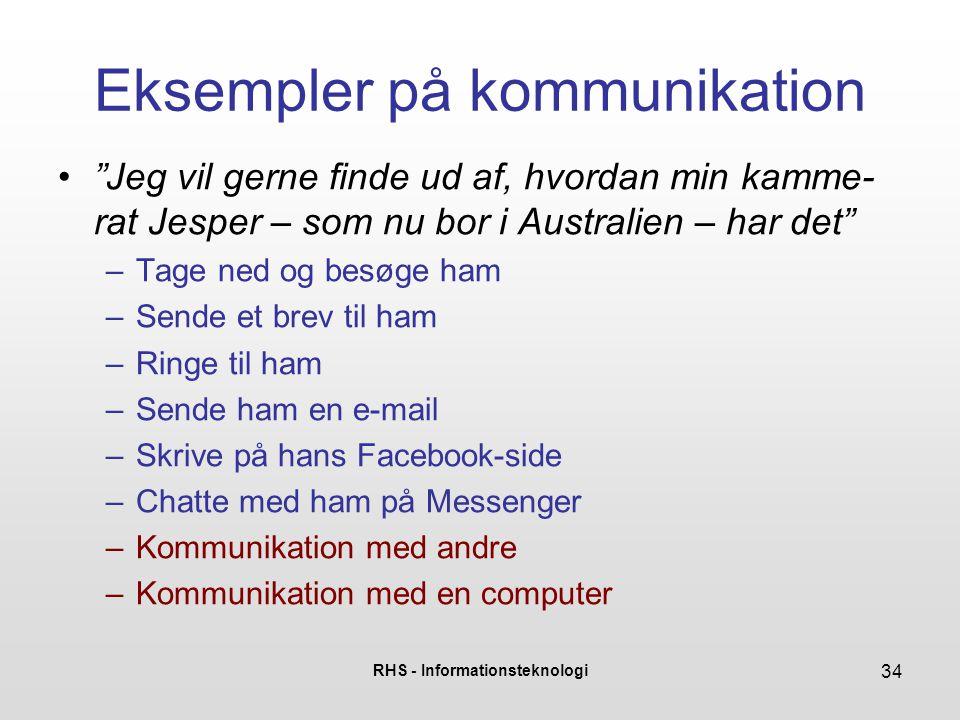Eksempler på kommunikation